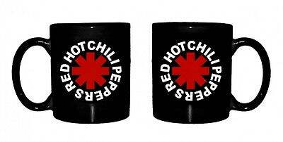 Official Red Hot Chili Peppers - Asterisk Logo - Boxed Ceramic Mug BLACK • 11.95£