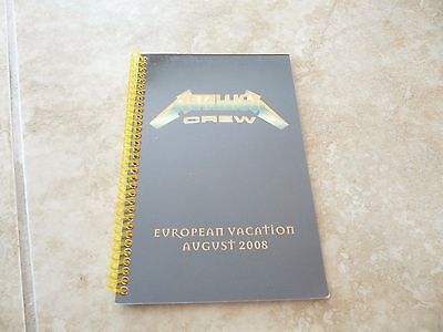 Metallica European Vacation August 2008 RARE Concert Band Tour Itinerary Book • 61.77£