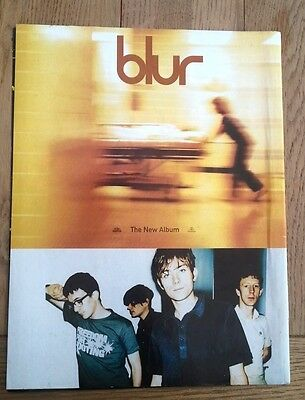 BLUR 'new Album' Magazine ADVERT/Poster/clipping 11x8 Inches • 7.95£