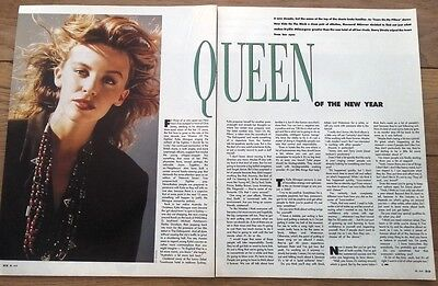 KYLIE MINOGUE 'Queen Of The New Year' ARTICLE / Clipping • 9.95£