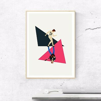 George Michael, The Glorious '80s. Illustrated Poster Art Print • 18£