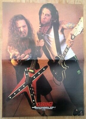 DIMEBAG PANTERA ROB ZOMBIE ANSELMO 2-sided Centerfold Magazine POSTER 17x11 Inch • 14.95£