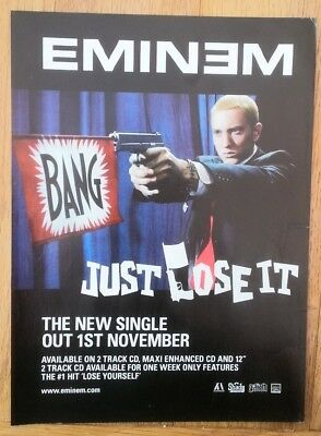 EMINEM Just Lose It Magazine ADVERT / Poster 11x8 Inches • 5.95£