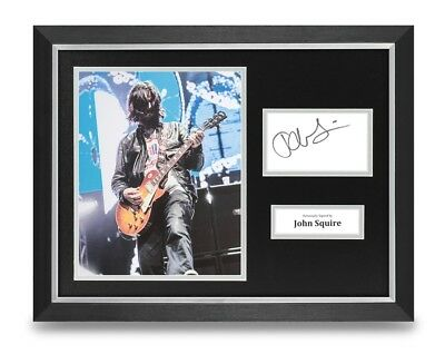 John Squire Signed 16x12 Framed Photo Display Stone Roses Autograph Memorabilia • 119.99£