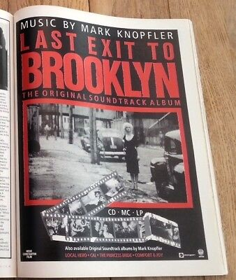 MARK KNOPFLER (Dire Straits) Brooklyn Magazine ADVERT/Poster/clipping 11x8 Inch • 7.95£