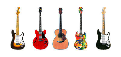 Eric Clapton 5 Famous Guitars Greeting Card, DL Size • 3.95£