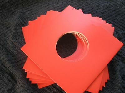 50 X 7  Red Card Record Masterbags Sleeves / Covers *new*  • 9.49£