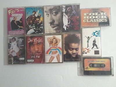 Music Cassette Tapes Full Album Variations Lady Of Rage Fat Domino Mariah Carey • 6.08£