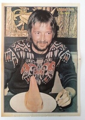 ERIC CLAPTON 1974 Vintage Newspaper POSTER Size: 16x24 Inches • 34.95£