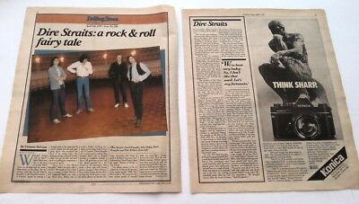 DIRE STRAITS 'Rock N' Roll Fairy Tale' 1979 3 Page US ARTICLE / Clipping • 9.95£