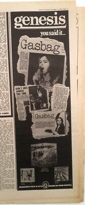 GENESIS 'Gasbag - Albums' 1972 ORIGINAL Poster Size ADVERT Size:16x6 Inches • 24.95£