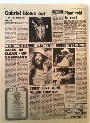 GABRIEL 'leaves GENESIS' A COOPER SPRINGSTEEN 'news' 1975 ARTICLE / Clipping • 9.95£