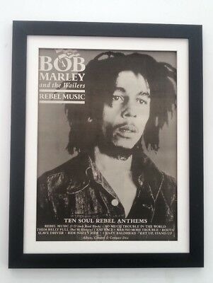 BOB MARLEY Rebel Music 1986*ORIGINAL*POSTER*AD*FRAMED*FAST WORLD SHIP • 69.95£