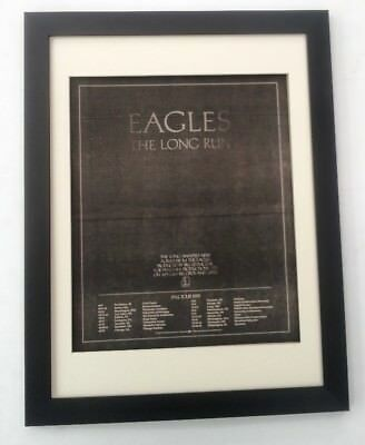 EAGLES*Long Run*US Tour*1979*ORIGINAL*POSTER*AD*FRAMED*FAST WORLD SHIP • 79.95£