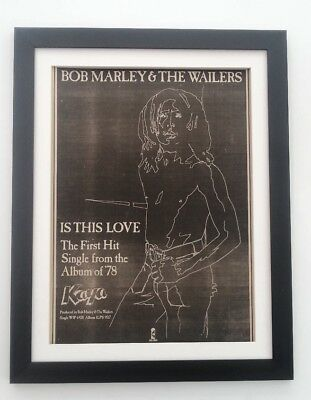 BOB MARLEY Is This Love 1978 *ORIGINAL *POSTER *AD *FRAMED*FAST WORLD SHIP • 74.95£