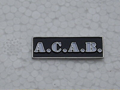 ACAB Pin Badge Punk Oi 4 Skins Football Casual Ultras ALL COPPERS ARE B*STARDS • 3.99£