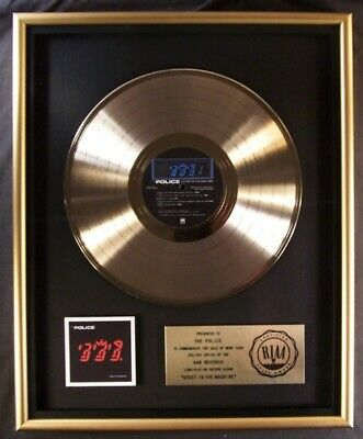 The Police Ghost In The Machine LP Gold RIAA Record Award A&M Records • 444.49£