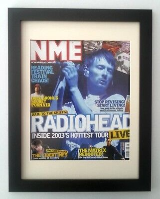 Thom Yorke*radiohead*2003*nme*original*cover*framed*fast World Ship • 49.95£
