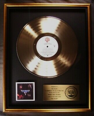 Van Halen Van Halen Debut LP Gold RIAA Record Award Warner Brothers Records • 550.98£
