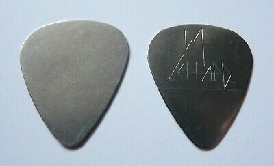 Def Leppard Vintage STEVE CLARK ERA ENGRAVED METAL Tour Issued Guitar Pick • 39.35£