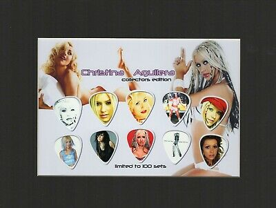 Christina Aguilera Matted Picture Guitar Pick Set Limited Say Something • 22.19£
