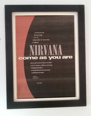 NIRVANA*Come As You Are*1992*ORIGINAL*POSTER*AD*FRAMED*FAST WORLD SHIP • 84.95£
