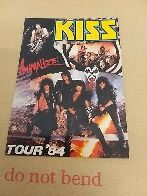 Kiss Tour 84 Animalize Postcard Promotional  • 4.99£