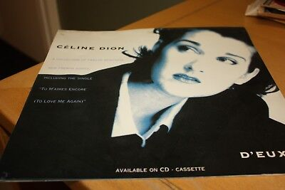 Celine Dion - D'eux - 12  Advertising Flat - From Shop Display. • 7.99£