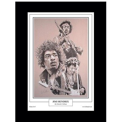 Jimi Hendrix Limited Edition Fine Art Print By Patrick J. Killian • 50£