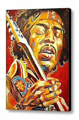 Jimi Hendrix  Hand Embellished Canvas Art Print By Patrick J Killian • 375£