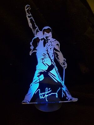 Freddie Mercury Of Queen  3D Acrylic Engraved LED Lamp_ • 22.98£