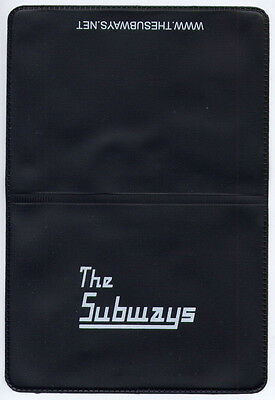 THE SUBWAYS Promo PVC Wallet / Oyster Card Holder MINT / UNUSED • 4.99£