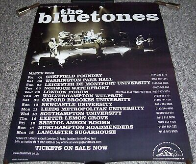The Bluetones Absolutely Superb And Rare Poster For The U.k. Tour In March 2002 • 25£