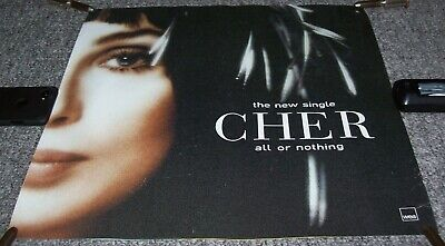 Cher U.k. Record Company Promo Poster For The Single  All Or Nothing  In 1999 • 25£