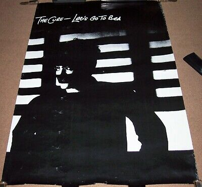 The Cure Fabulous U.k. Record Company Promo Poster 'let's Go To Bed' Single 1982 • 50£