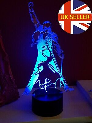 Freddie Mercury Of Queen Acrylic Engraved LED Lamp • 20£
