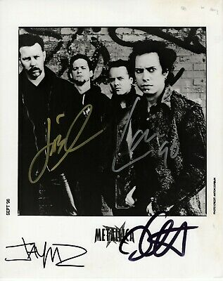 Metallica Fully Signed Promo Photo 1996 Authenticated By Roger Epperson • 610£