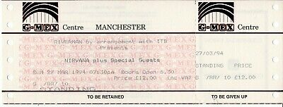 Nirvana Complete Ticket For The Cancelled Manchester G-MEX Show 27th March 1994  • 60£