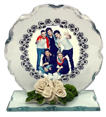One Direction Crystal Cut Glass Photo Plaque Keepsake Gift  #8 • 27£