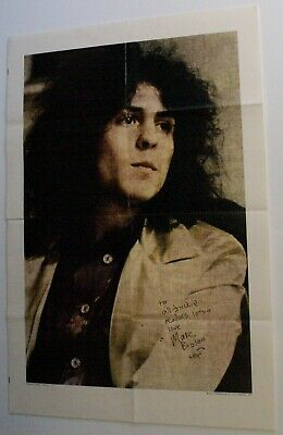 Marc Bolan Original D C Thompson Poster Presented With Jackie Magazine 1972 • 150£