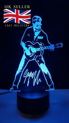 George Michael Faith Engraved  3D Acrylic LED Lamp • 20£