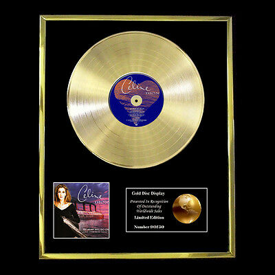 Celine Dion My Heart Will Go On Cd  Gold Disc Vinyl   • 170.95£