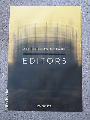 The Editors An End Has A Start Original 2007 Promo Poster. • 9.99£