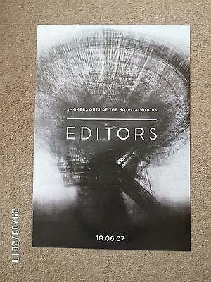The Editors Smokers Outside The Hospital Doors 2007 Original Promo Poster • 9.99£
