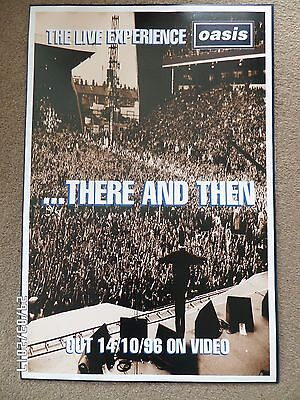 Oasis There And Then Original 1996 Promo Poster. • 12.99£