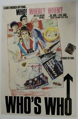 The Who Original Ica Exhibition Poster 1978 • 92£