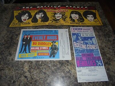 The Rolling Stones Promotional Flyers • 3.50£