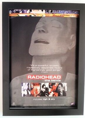RADIOHEAD*The Bends*1995*ORIGINAL*A4*ADVERT*FRAMED*FAST WORLD SHIP • 29.95£