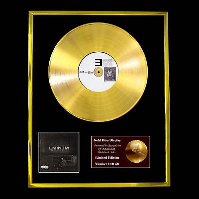 Eminem The Marshall Cd Gold Disc Record Lp Award Display  Free P&p! • 160.95£
