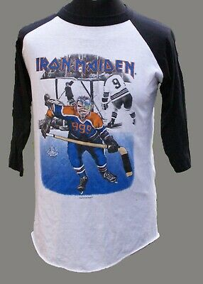 Iron Maiden Shirt Vintage Official Somewhere On Tour Canada 1987 • 850£